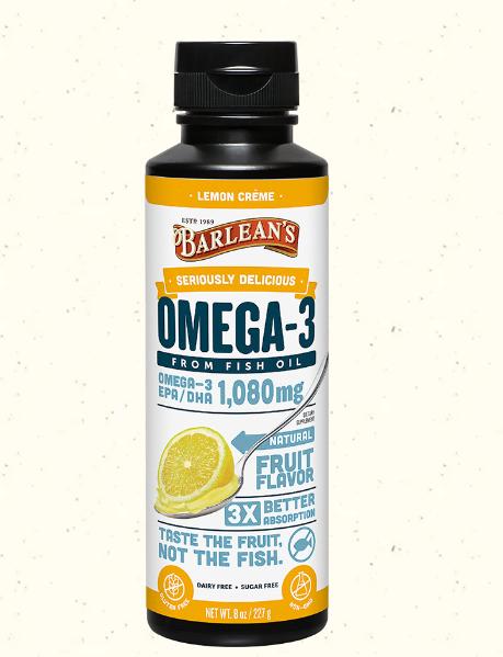 Barlean's Omega Swirl Fish Oil, Lemon Zest 8oz