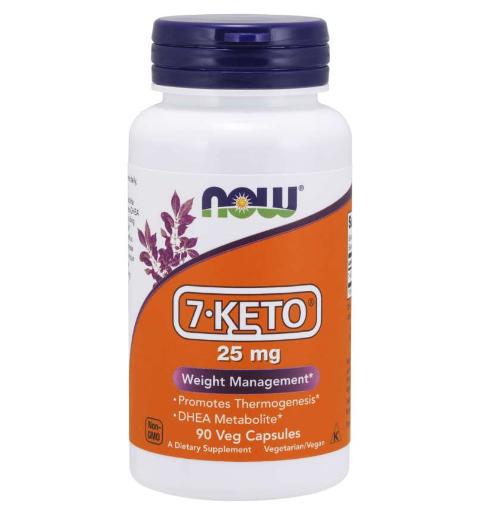 Now 7-KETO 25 mg 90 Veg Caps