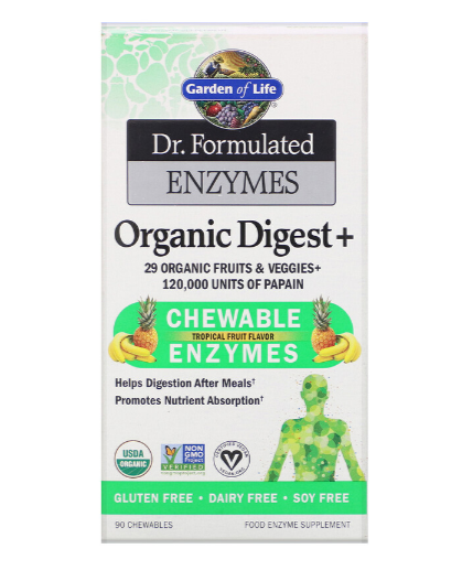 Garden of Life Organic Digest+ Chewable Enzymes
