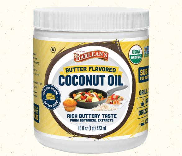 Barleans Coconut Oil Butter Flavored 16 oz