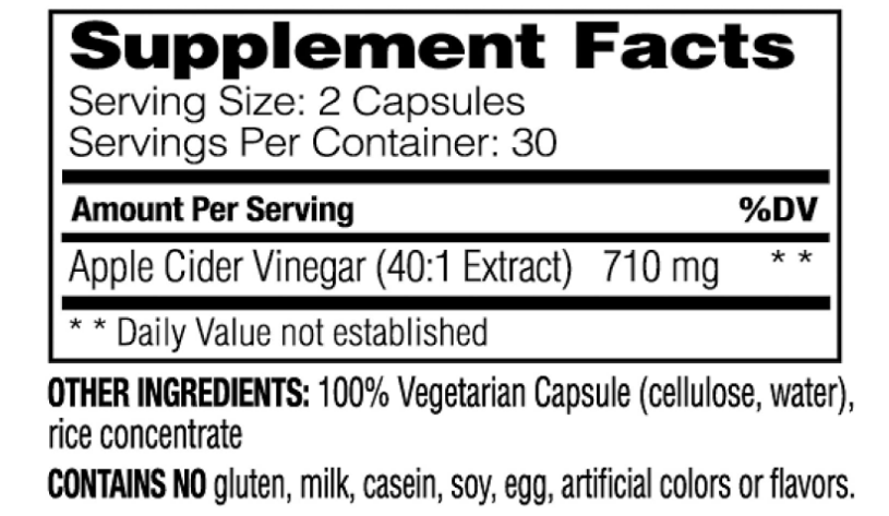 Enzymedica Apple Cider Vinegar 710 mg