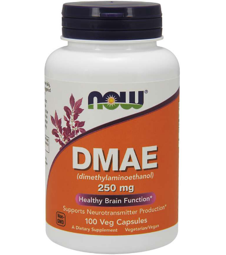 Now DMAE 250 mg 100 Veg Caps