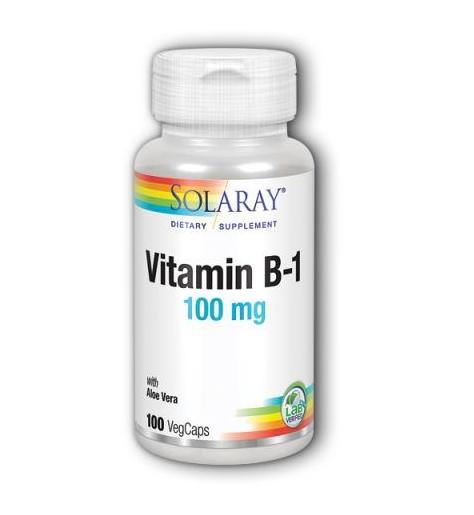 Solaray Vitamn-B1 100mg 100 Capsules