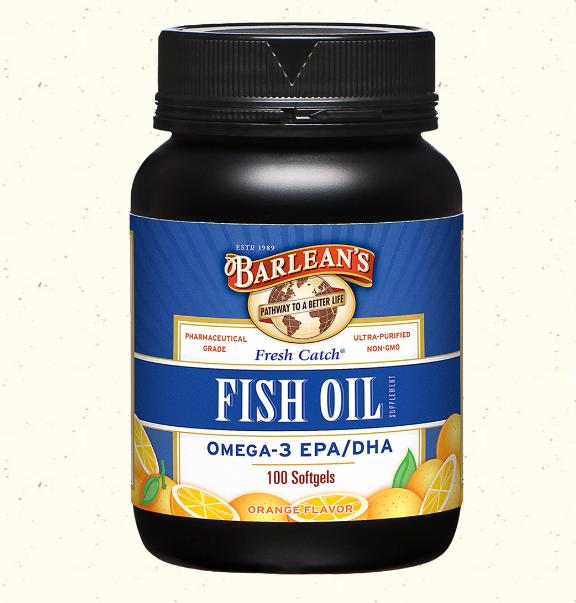 Barlean's Fresh Catch Fish Oil, Orange 100 Softgels