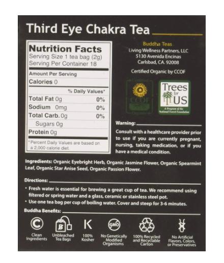 Buddha Teas, Third Eye Tea