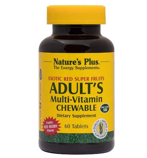 Nature's Plus Adult's Chewable Multivitamin - 60
