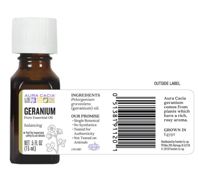 Aura Cacia Essential Oil, Geranium 0.5oz