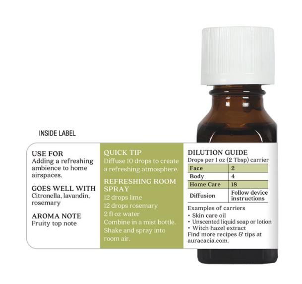 Aura Cacia Essential Oil, Lime 0.5oz
