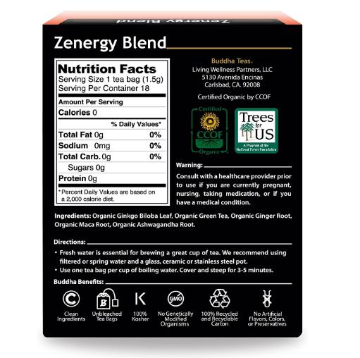 Buddha Teas, Zenergy Tea