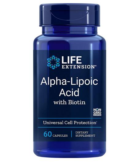 Life Extension Alpha Lipoic Acid with Biotin 60 Capsules