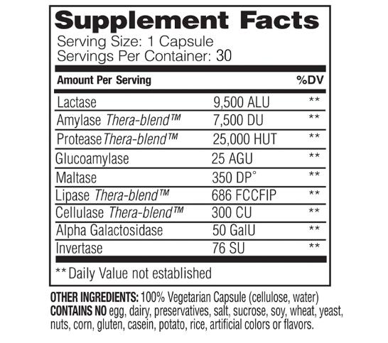 Enzymedica  Lacto 30 Capsules