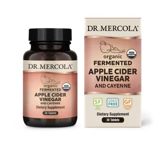 Dr. Mercola Fermented Apple Cider Vinegar & Cayenne 30 Capsules