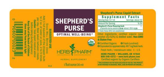 Herb Pharm shepherds purse