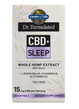 Garden of Life Dr. Formulated CBD+Sleep 30 Softgels