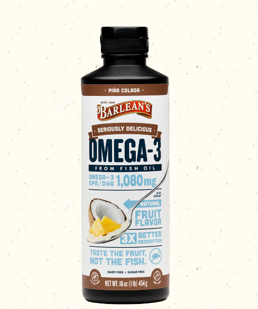 Barlean's Omega Swirl Fish Oil W/ Vitamin C, Pina Colada 16oz
