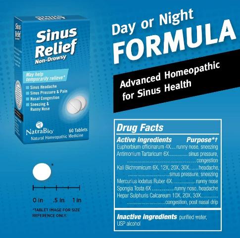 Natrabio Sinus Relief 60 Tablets