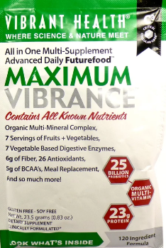 Vibrant Health Maximum Vibrance, Vanilla Bean Single Packet 0.727oz