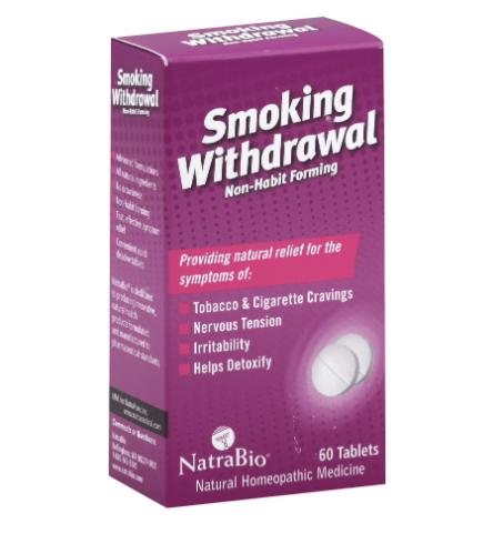 NatraBio Smoking Withdrawal 60 Tablets