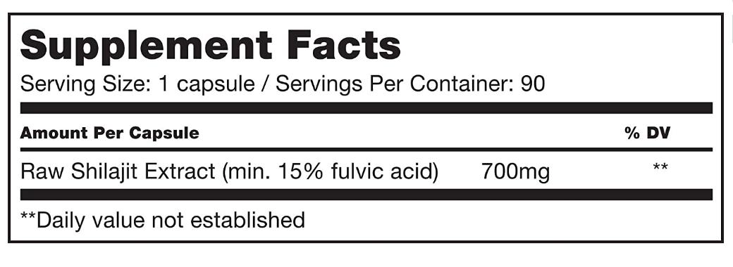Sunfood Shilajit 90 capsules