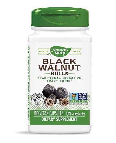 Nature's Way Black Walnut Hulls 500 mg 100 Veg Caps