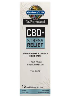 Garden of Life Dr. Formulated CBD+Stress Relief 1oz