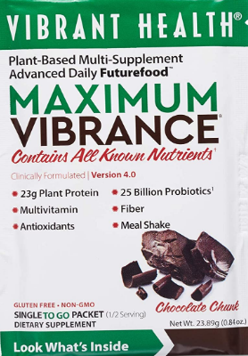 Vibrant Health Maximum Vibrance, Chocolate Chunk 0.85oz