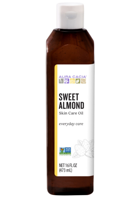 Aura Cacia Natural Skin Care Oil Sweet Almond 16oz