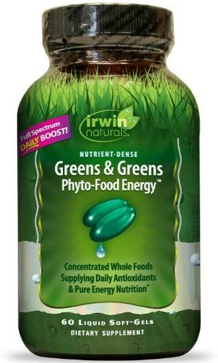 Irwin Naturals Living Green Super Food 60 liquid Gels