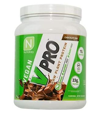 NutraKey - V Pro Raw Plant Proteins Chocolate - 1 lb.