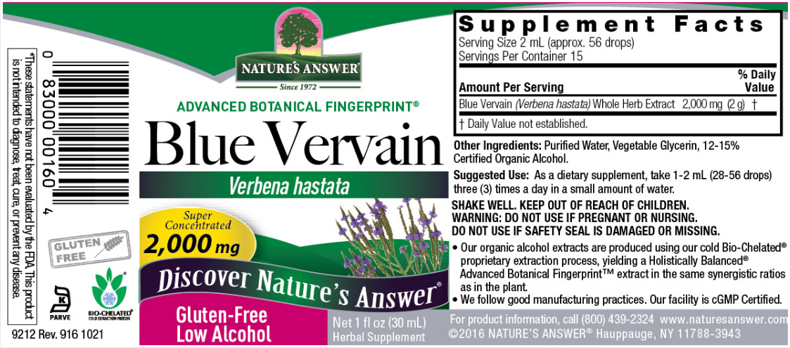 Nature's Answer Blue Vervain