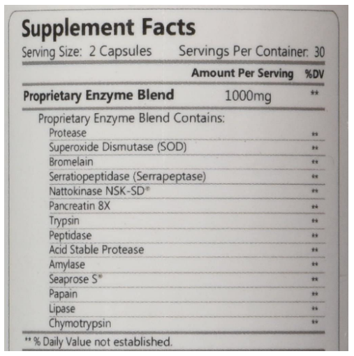 HCP fibrenza  Systemic Enzyme 500mg