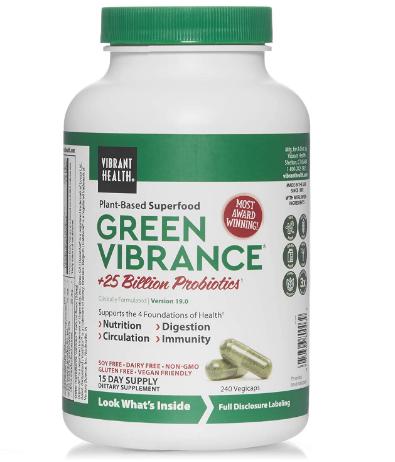 Vibrant Health - Green Vibrance - 240 Vegetarian Capsules