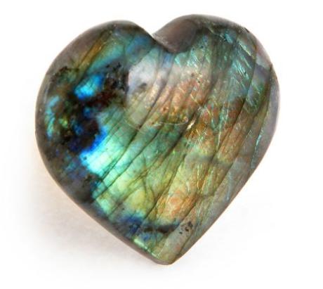 Heart Labradorite gemstone