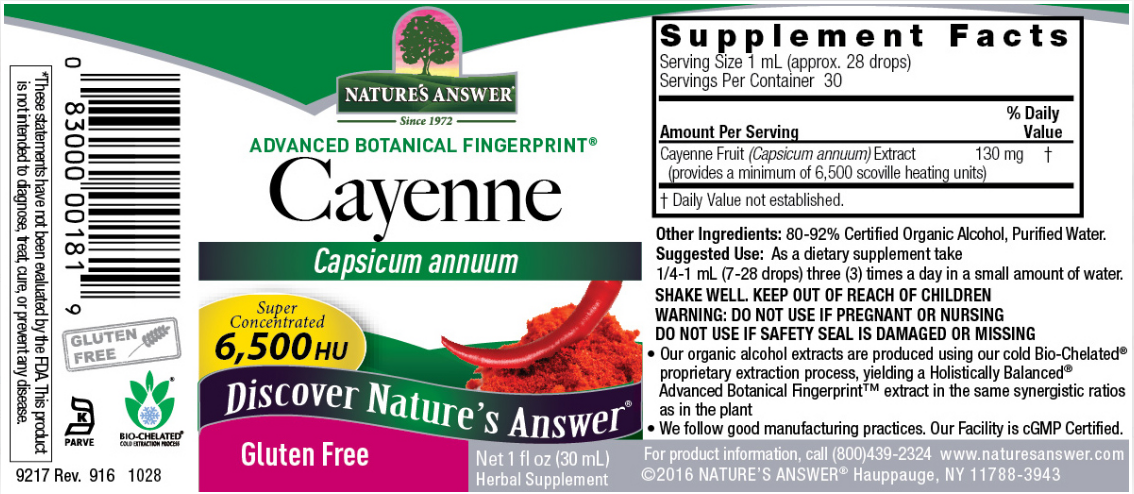 Natures Answer Cayenne