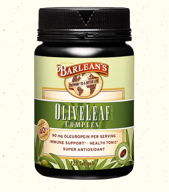 Barlean's Olive Leaf Complex 120 Softgels