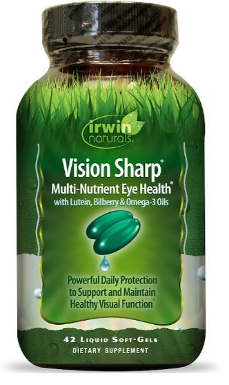 Irwin Naturals Vision Sharp Eye Health