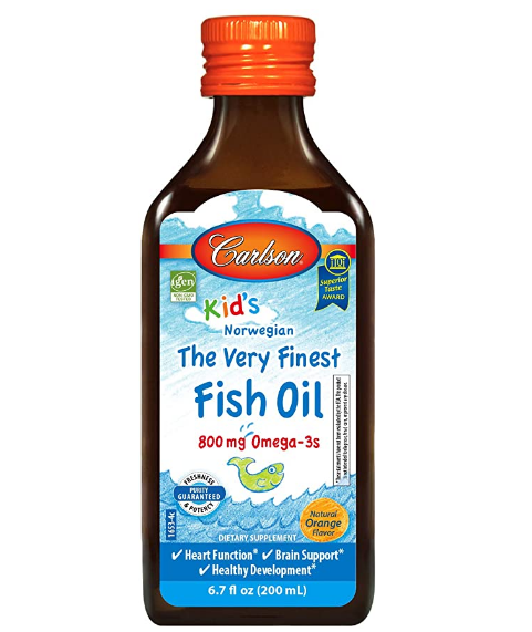 Carlson Kid's Norwegian The Very Finest Fish Oil 800mg Omega-3s 6.7oz