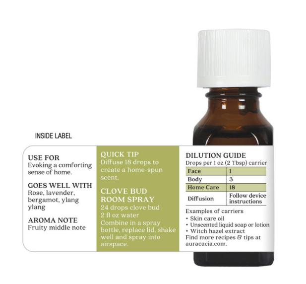 Aura Cacia Essential Oil, Clove Bud 0.5oz