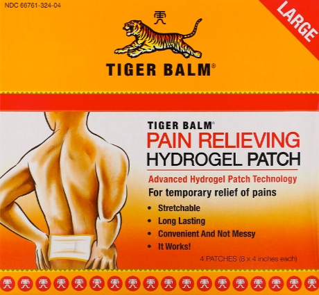 Tiger Balm Pain Relieving Patch Large 4 Count