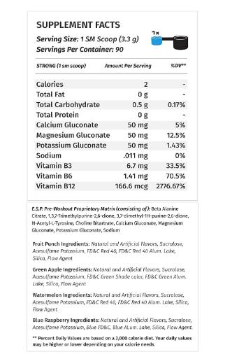Metabolic E.S.P. Pre-Workout Powder, Green Apple