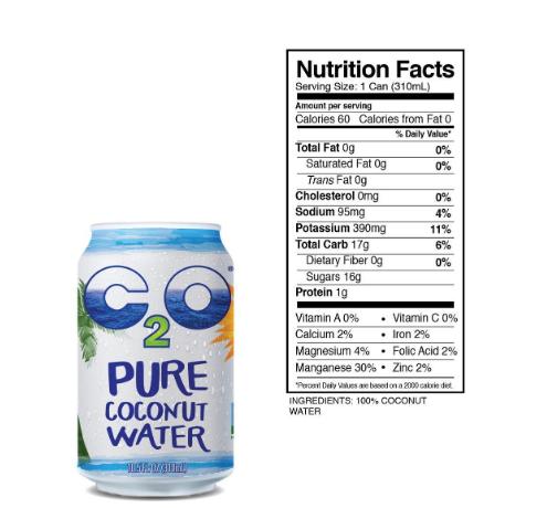 C2O Pure Coconut Water 10.5oz