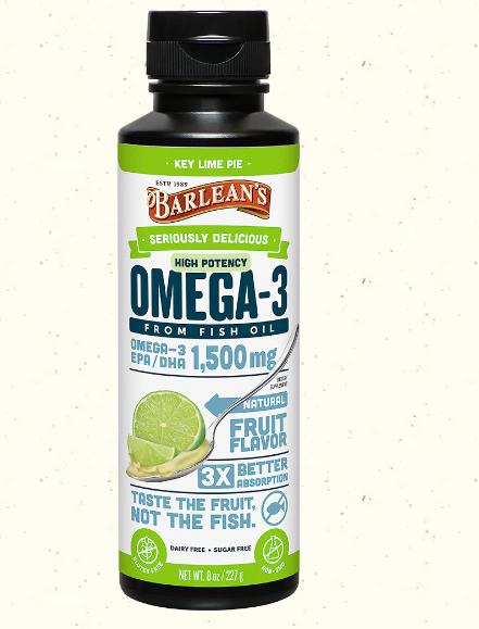 Barlean's Omega Swirl Fish Oil Ultra High Potency, Key Lime 8oz