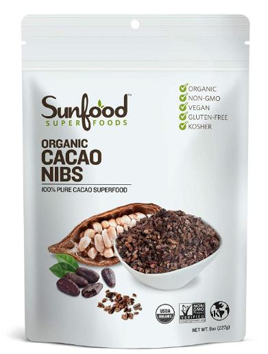 Sunfood Cacao Nibs 8oz.