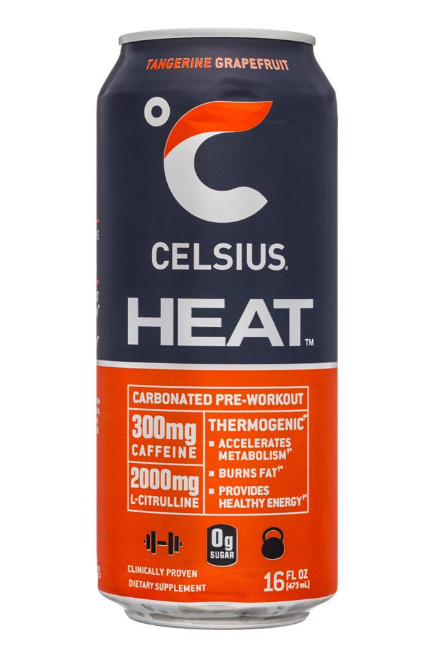 Celsius HEAT Tangerine GrapeFruit 16oz