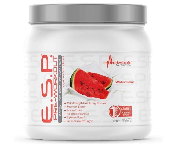 Metabolic E.S.P. Pre-Workout Powder, Watermelon