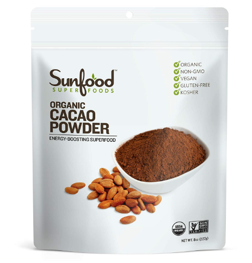 Sunfood Raw Organic Cacao Powder 8 oz.
