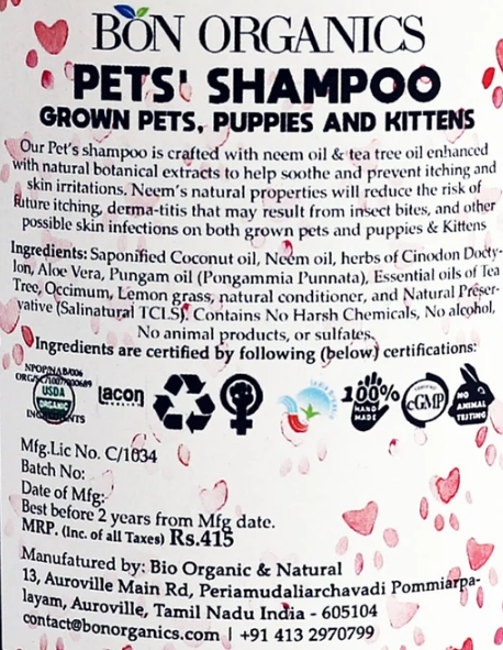 Bon Organics Pet Shampoo