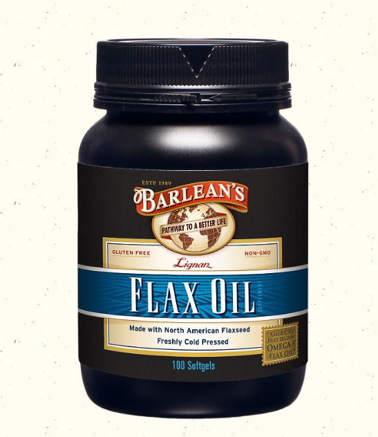 Barlean's Flax Oil 1000mg 100 Softgels