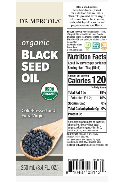 Dr. Mercola Organic Black Seed Oil 8.4oz