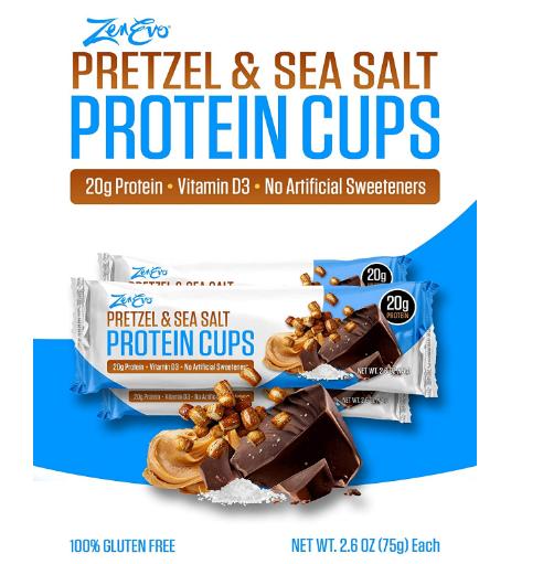 Zenevo Protein Cups Pretzel & Sea Salt
